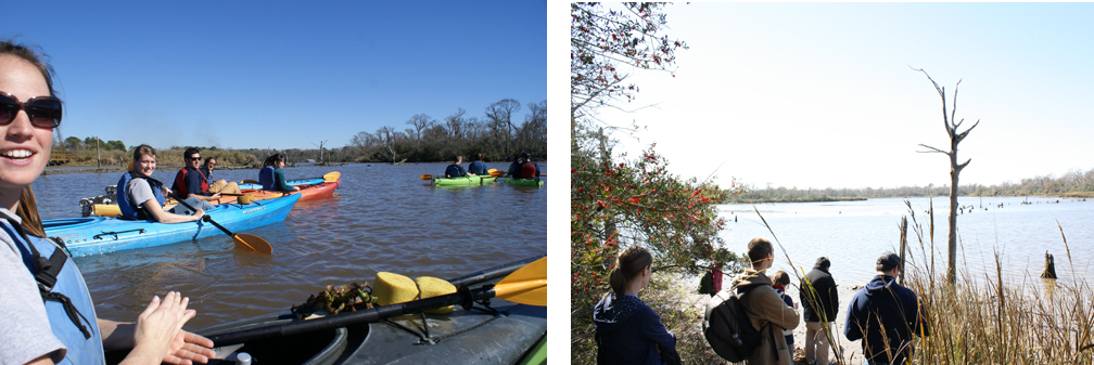 Two views of the Armand Bayou, from our class visit to the Armand Bayou Nature Center (image on left by John Reed)