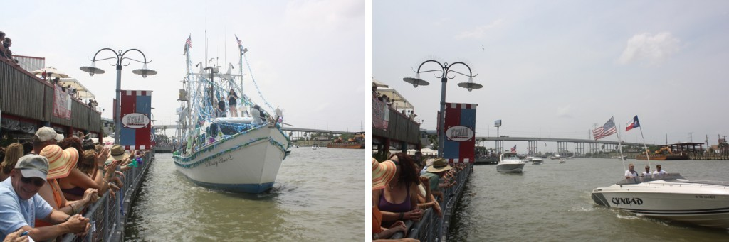 Although historically a rite of passage for commercial fishing boats only, the annual Blessing of the Fleet on Clear Lake channel now includes both work boats and pleasure boats alike.