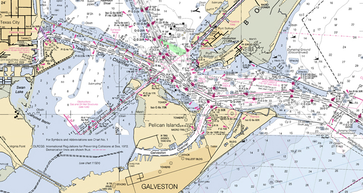 nautical chart by NOAA
